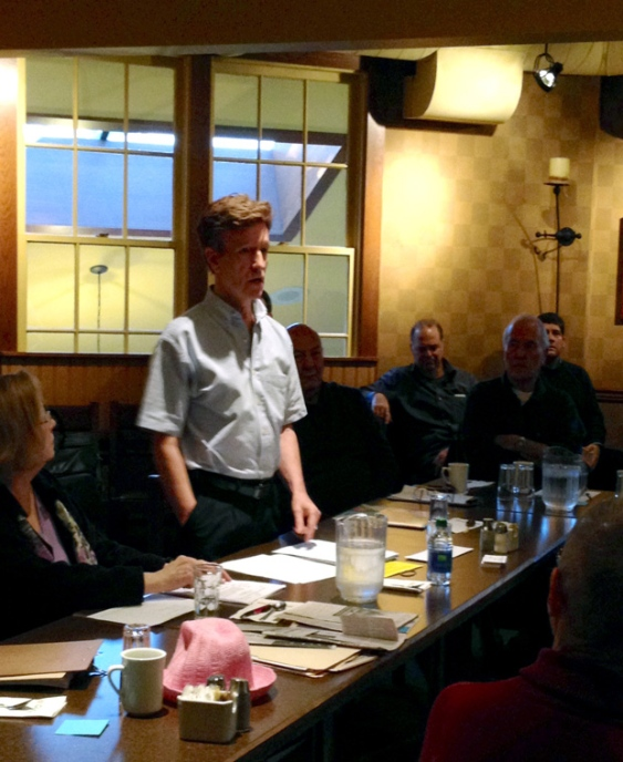Terry McNeice at the ABC Restaurant - No Casino Surreys Kickoff Meeting